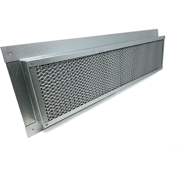 "5 1/2""H x 14""W (44 Sq. In. Venting Area) Vulcan Fire Stopping Eave/Soffit Vent 3/4"" Recessed Flange for Stucco, Galvanized Steel"