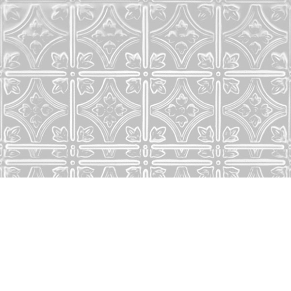 "209 Plate Pattern with a 6"" Repeat, Lay In, 24""W x 24""L, Pre-Painted White"