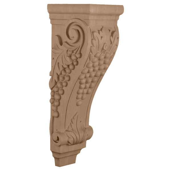 "6 1/2""W x 7 5/8""D x 22""H, Extra Large Grape Corbel"