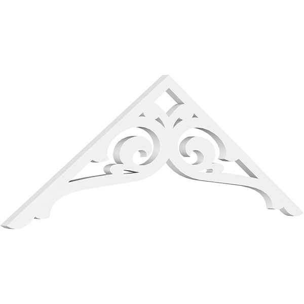 Standard Bordeaux Architectural Grade PVC Gable Pediment