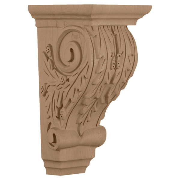 "4 3/4""W x 5 1/4""D x 9 1/2""H, Medium Oakleaf Corbel"