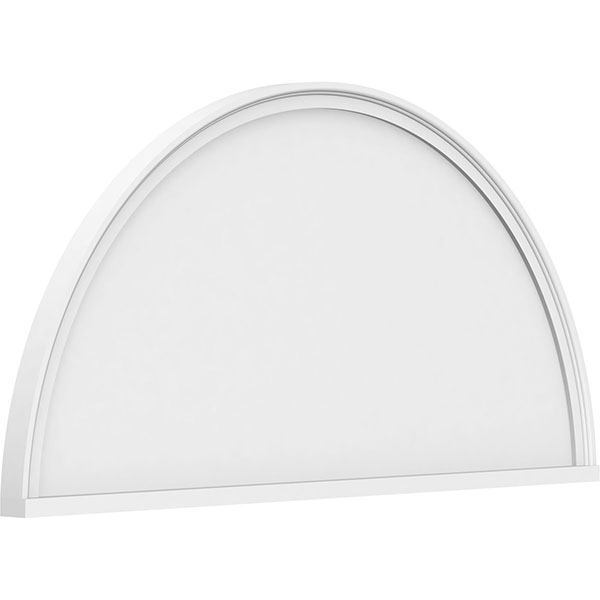 Half Round Smooth Architectural Grade PVC Pediment