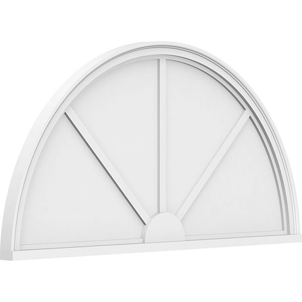 Half Round 3 Spoke Architectural Grade PVC Pediment