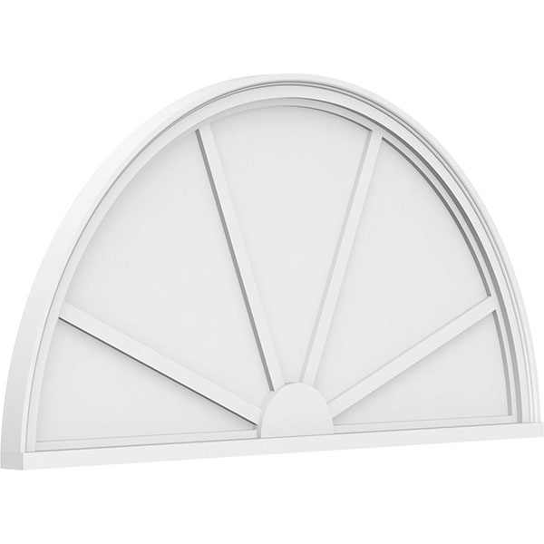 Half Round 4 Spoke Architectural Grade PVC Pediment