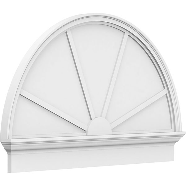 Half Round 4 Spoke Architectural Grade PVC Combination Pediment