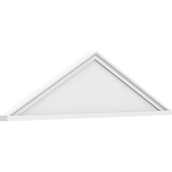 Peaked Cap Smooth Architectural Grade PVC Pediment