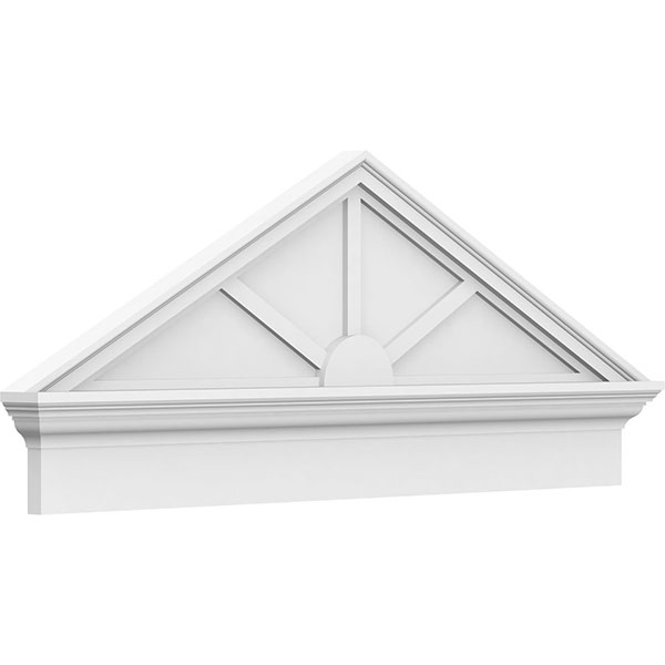 Peaked Cap 3 Spoke Architectural Grade PVC Combination Pediment