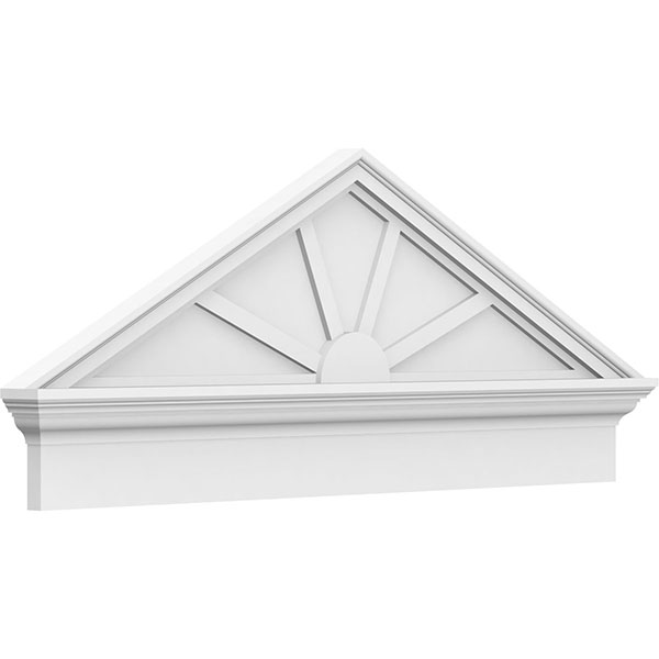 Peaked Cap 4 Spoke Architectural Grade PVC Combination Pediment