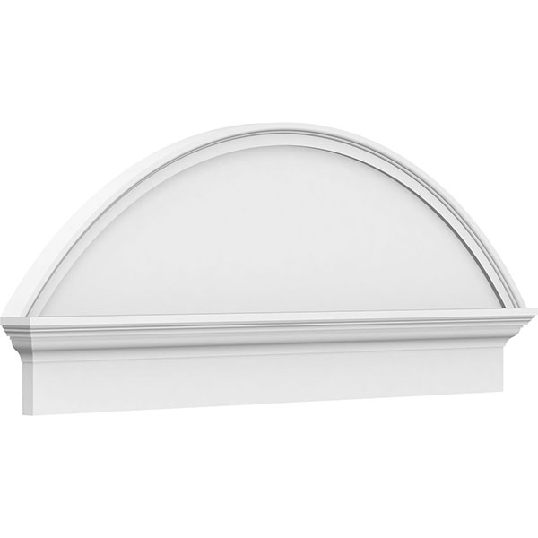 Segment Arch Smooth Architectural Grade PVC Combination Pediment