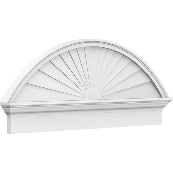 Segment Arch Sunburst Architectural Grade PVC Combination Pediment