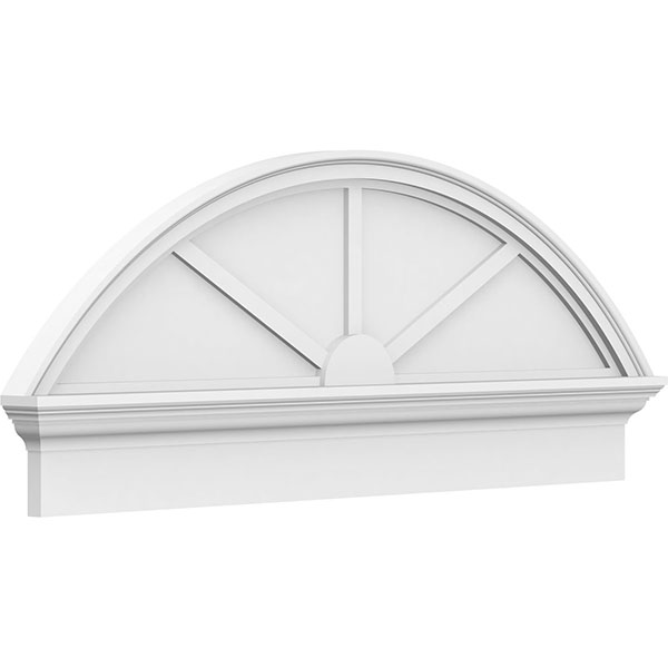 Segment Arch 3 Spoke Architectural Grade PVC Combination Pediment