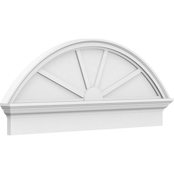 Segment Arch 4 Spoke Architectural Grade PVC Combination Pediment