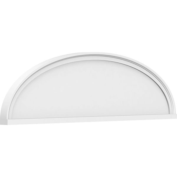 Elliptical Smooth Architectural Grade PVC Pediment