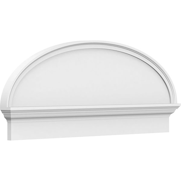 Elliptical Smooth Architectural Grade PVC Combination Pediment
