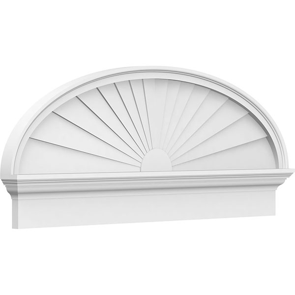 Elliptical Sunburst Architectural Grade PVC Combination Pediment