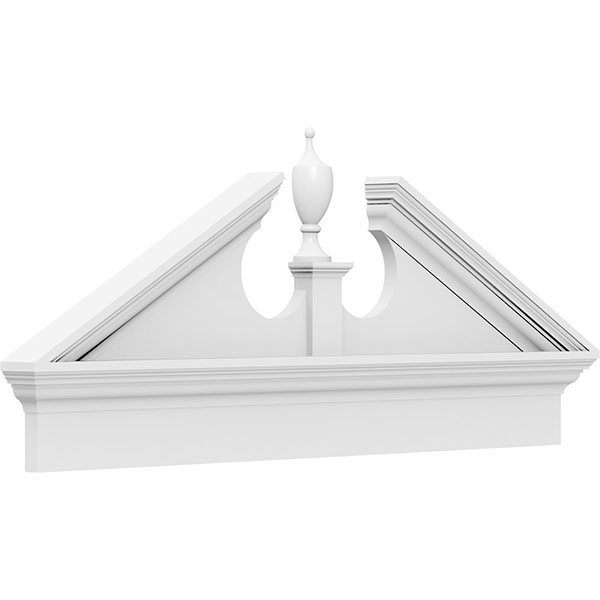 Acorn Architectural Grade PVC Combination Pediment (Acorn Ships Unattached in Box)