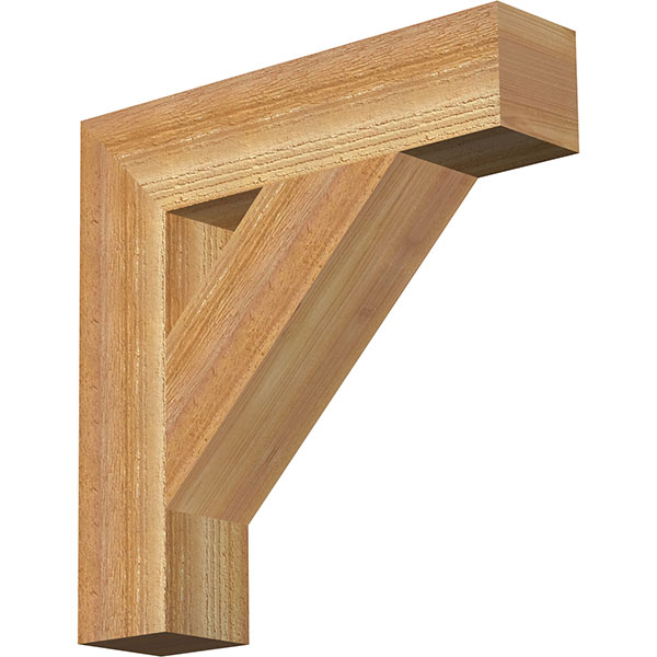 Traditional Block Rough Sawn Bracket