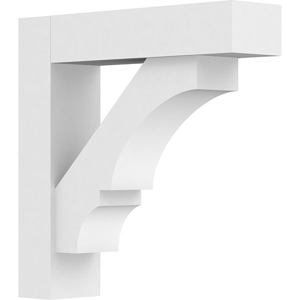 Standard Balboa Architectural Grade PVC Bracket With Block Ends