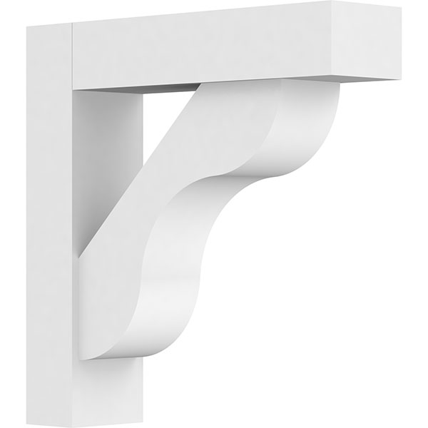 Standard Carmel Architectural Grade PVC Bracket With Block Ends