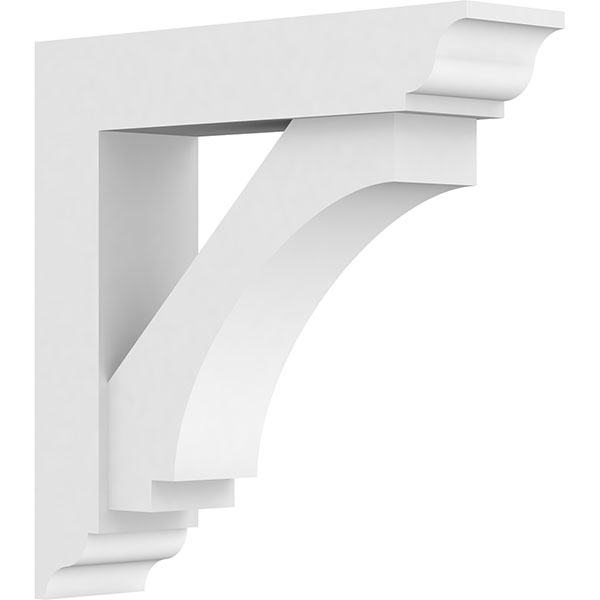 Standard Imperial Architectural Grade PVC Bracket With Traditional Ends