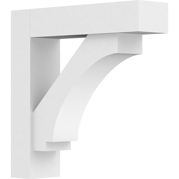 Standard Imperial Architectural Grade PVC Bracket With Block Ends
