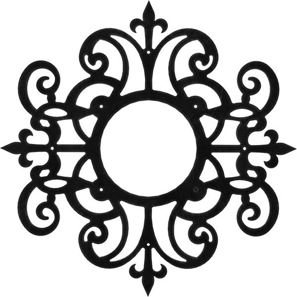 Dijon Metal Pierced Ceiling Medallion