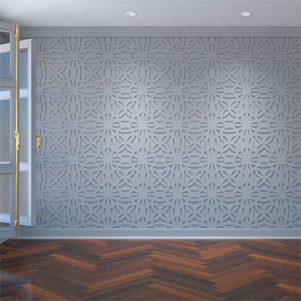 Baytown Decorative Fretwork Wall Panels in Architectural Grade PVC