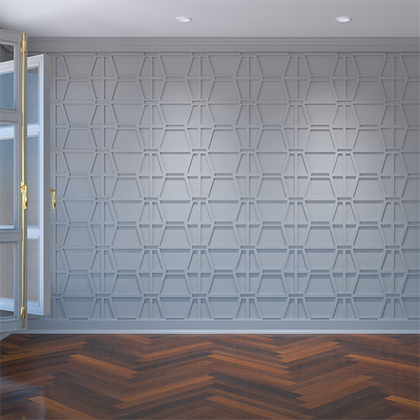 Greeley Decorative Fretwork Wall Panels in Architectural Grade PVC
