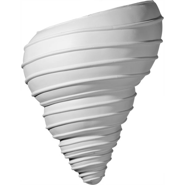 "10 1/8""W x 5 1/2""D x 12 1/2""H Spiral Shell Wall Sconce"