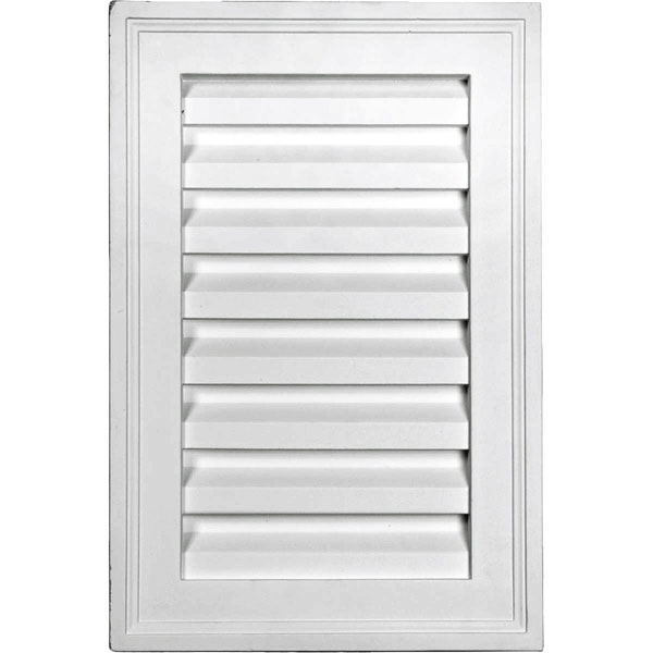 "12""W x 18""H x 1 7/8""P, Vertical Gable Vent Louver, Decorative"