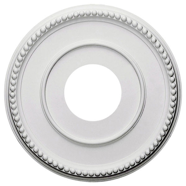 "12 1/2""OD x 3 7/8""ID x 3/4""P Bradford Ceiling Medallion (Fits Canopies up to 6 5/8"")"