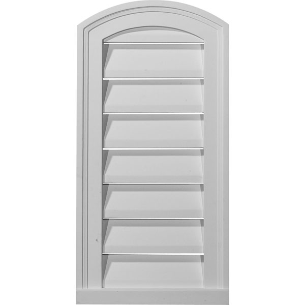 "12""W x 24""H x 1 3/4""P, Eyebrow Gable Vent Louver, Decorative"