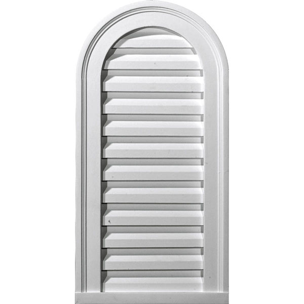 "12""W x 24""H x 1 7/8""P, Cathedral Gable Vent Louver, Non-Functional"