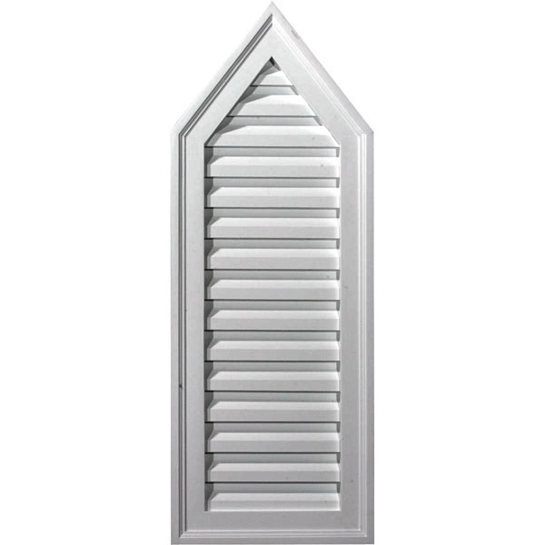 "12""W x 32""H x 1 3/4""P, 8/12 Pitch, Peaked Gable Vent, Non-Functional"