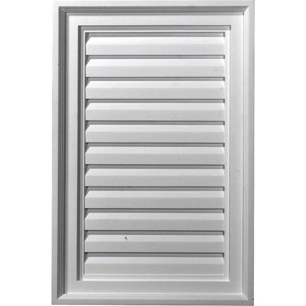 "16""W x 24""H x 1 3/4""P, Vertical Gable Vent Louver, Decorative"