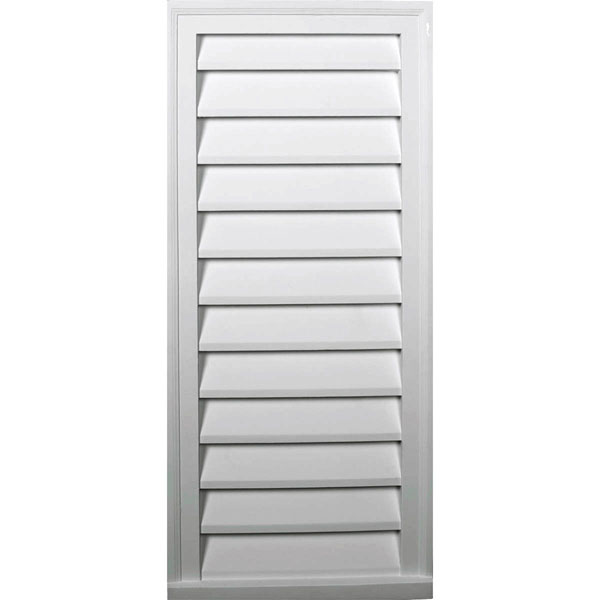 "16""W x 36""H x 1 5/8""P, Vertical Gable Vent Louver, Decorative"