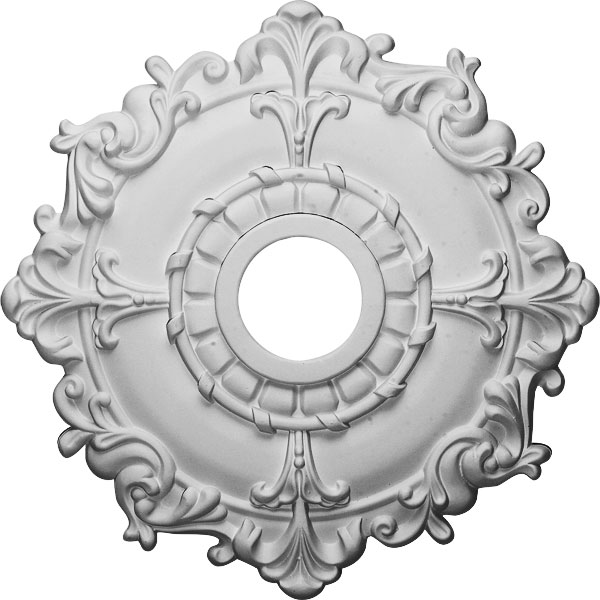 "18""OD x 3 1/2""ID x 1 1/2""P Riley Ceiling Medallion (Fits Canopies up to 4 5/8"")"