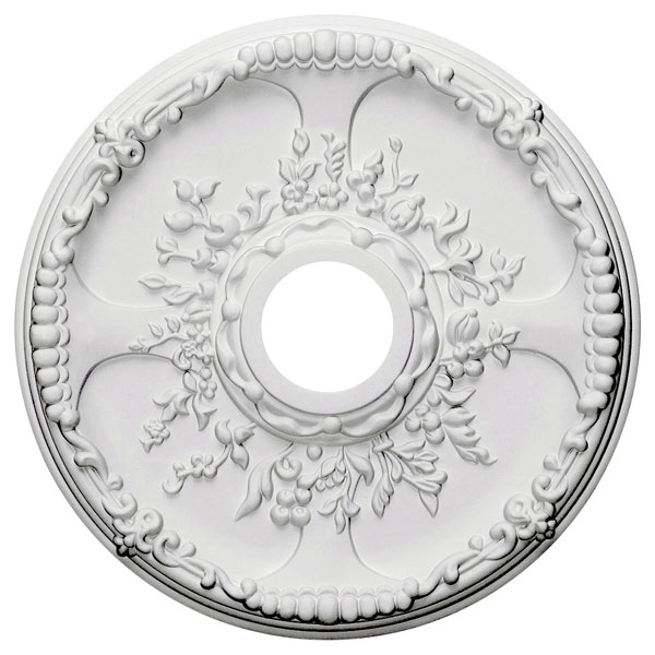 "18""OD x 3 1/2""ID x 1 3/8""P Antioch Ceiling Medallion (Fits Canopies up to 3 1/2"")"