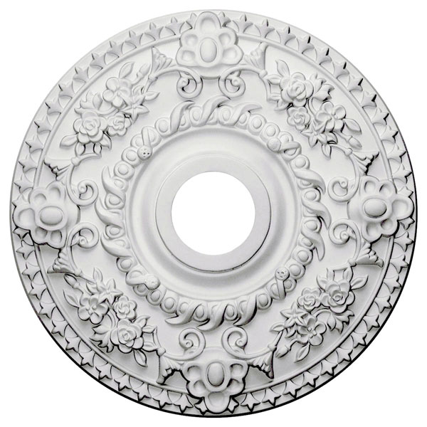 "18""OD x 3 1/2""ID x 1 1/2""P Rose Ceiling Medallion (Fits Canopies up to 7 1/4"")"