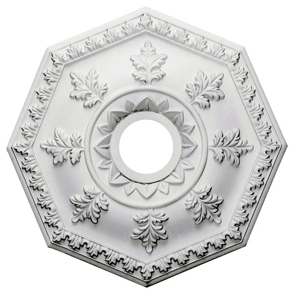 "18""OD x 3 1/2""ID x 1 1/2""P Nottingham Ceiling Medallion (Fits Canopies up to 4 5/8"")"
