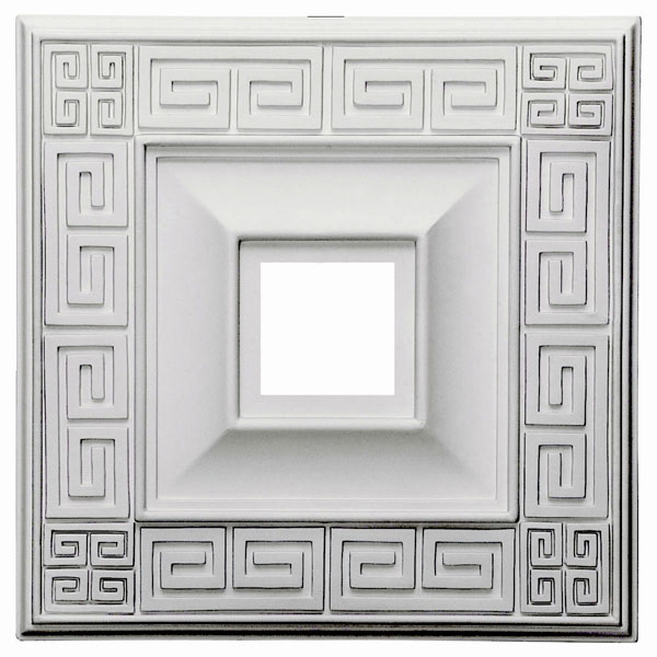 "18""W x 18""H x 3 1/2""ID x 1 1/8""P Eris Ceiling Medallion (Fits Canopies up to 9 7/8"")"
