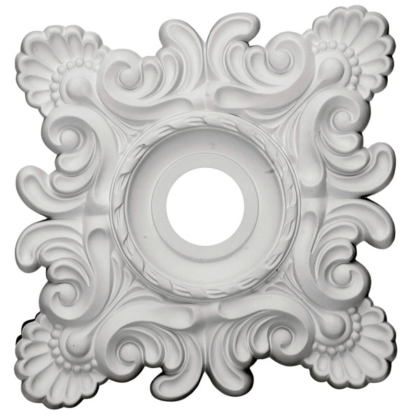 "18""W x 18""H x 3 1/4""ID x 1 1/2""P Crawley Ceiling Medallion (Fits Canopies up to 6 3/4"")"