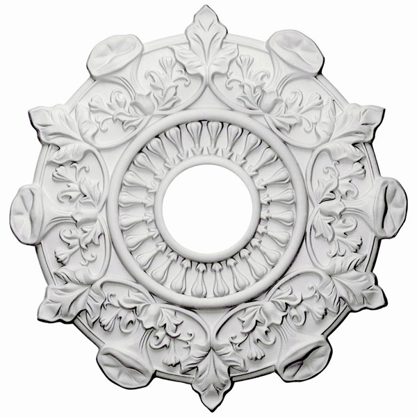 "17 1/2""OD x 3 1/2""ID x 1""P Preston Ceiling Medallion (Fits Canopies up to 4"")"
