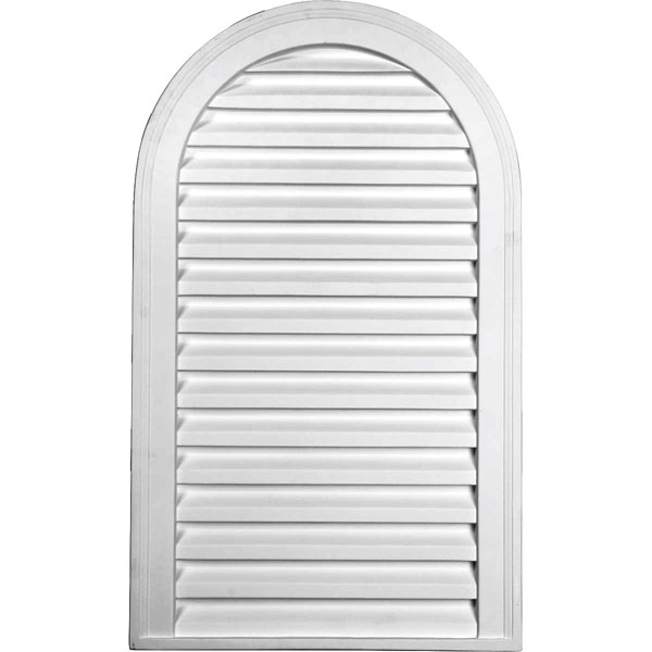 "18""W x 30""H x 2""P, Cathedral Gable Vent Louver, Decorative"
