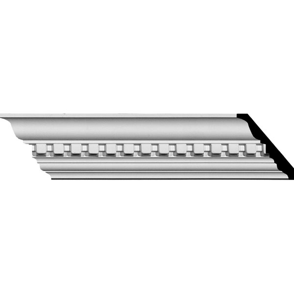 "2 3/4""H x 2 3/4""P x 3 7/8""F x 94 1/2""L Dentil Crown Moulding"