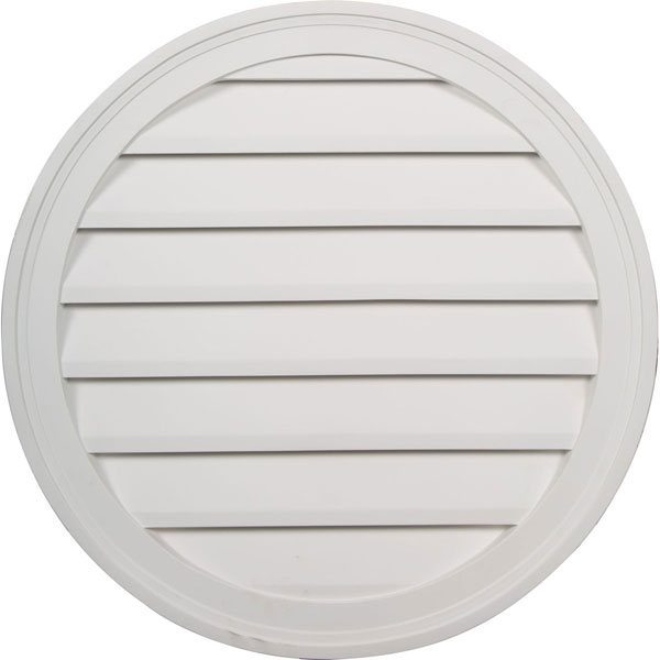 "24""W x 24""H x 1 3/4""P, Round Gable Vent Louver, Decorative"