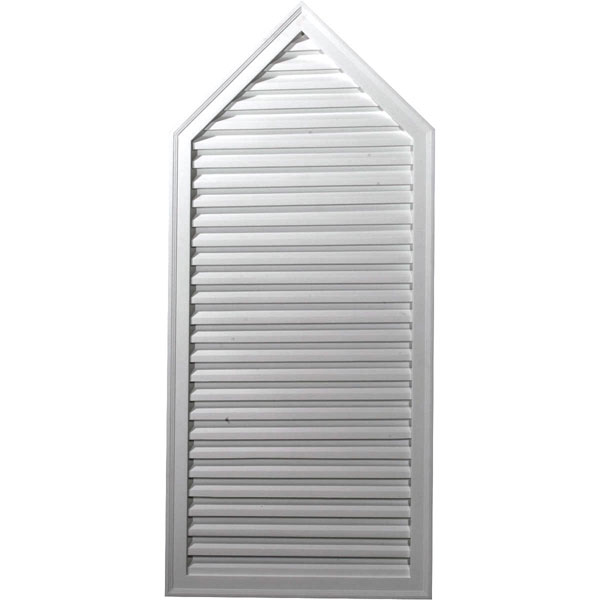 "24 1/8""W x 54 1/8""H x 2""P, 6/12 Pitch, Peaked Gable Vent, Decorative"