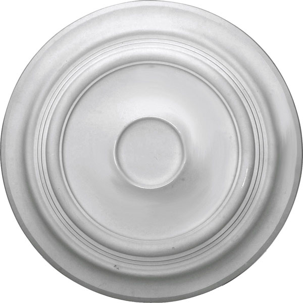 "24 3/8""OD x 1 1/2""P Traditional Ceiling Medallion (Fits Canopies up to 5 1/2"")"