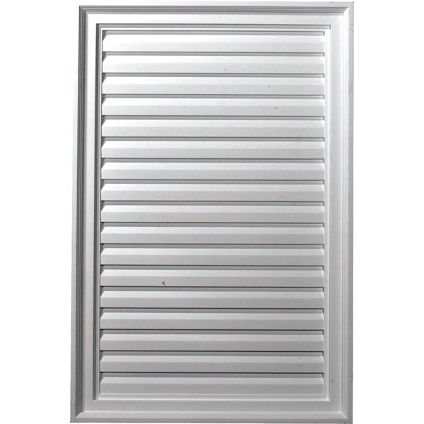 "24""W x 36""H x 2""P, Vertical Gable Vent Louver, Decorative"