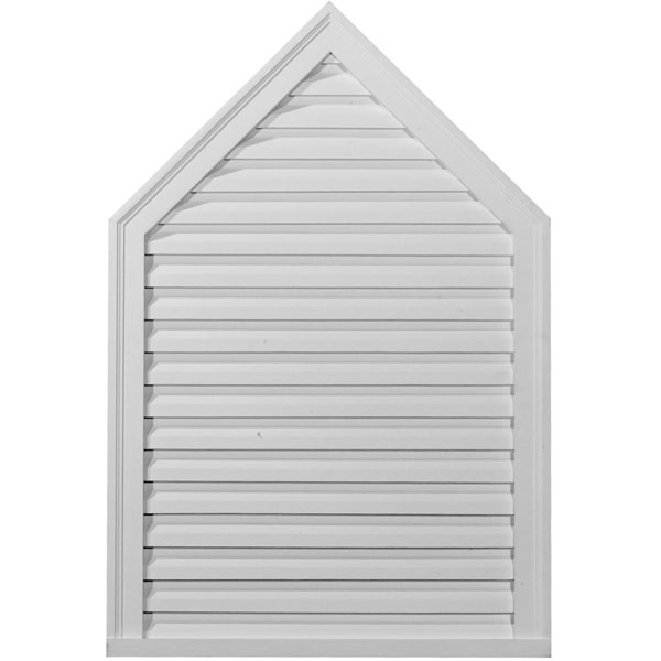 "24""W x 30""H x 1 7/8""P, 5/12 Pitch, Peaked Gable Vent Louver, Decorative"